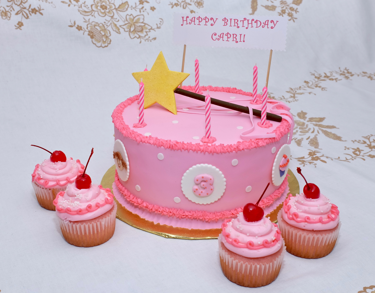 Miraculous Pinkalicious Cake Tortissima Birthday Cards Printable Benkemecafe Filternl