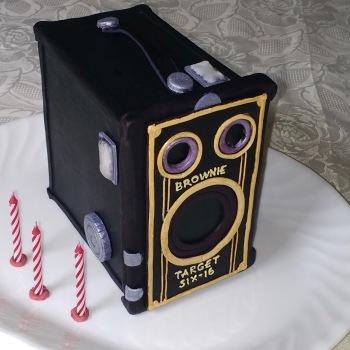 Brownie Camera Cake