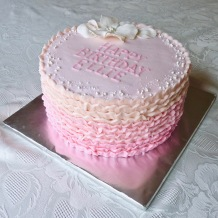 Pink Frill Cake