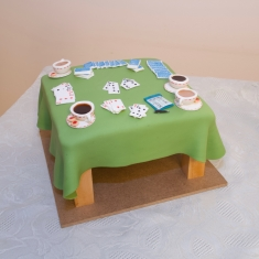 Bridge Table Cake